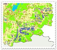 Plan de l'occupation des sols dans l'Aube