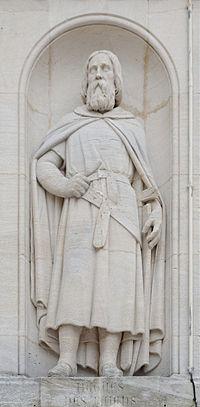 L'attribut alt de cette image est vide, son nom de fichier est Dijon_Place_Saint_Bernard_Hugues_de_Payens_detail_statue.jpg.